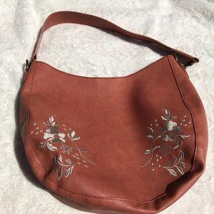 3/$20 Universal thread orange embroidered purse